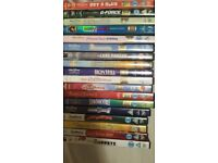 76 disney real life/animation mixed dvds