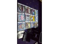 Nintendo Ds lite, 12 games, charger and bag
