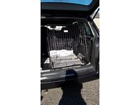 Large car dog cage has slanting sides new used once for lab x German shepard