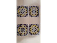 Pack of 48 Tiles Stickers (4 x 4 inches) - Portuguese/Mexican/Talavera/Decal
