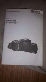 1080p . Hitachi camcoder with bag .