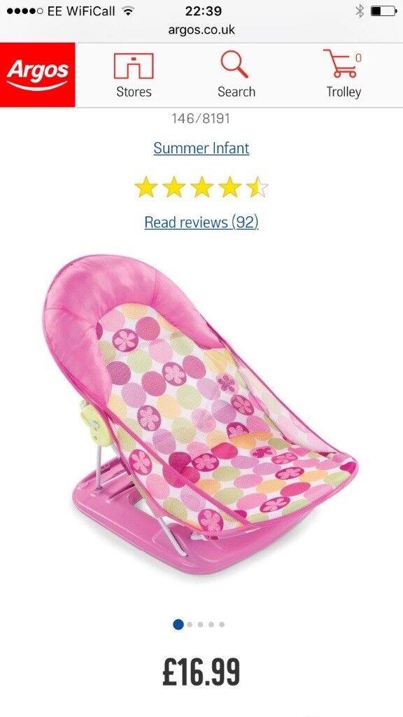 Pink baby bath seat | in Dumbarton, West Dunbartonshire | Gumtree