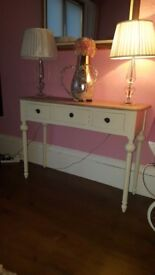 Cream shabby chic console table