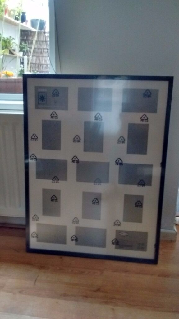 IKEA RIBBA FRAMES 60X80 HOLDS 15 PICS PLUS 3 BLACK BOX FRAMES 14X14 ...