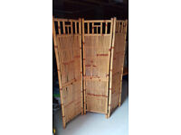 Bamboo Folding Screen Partition