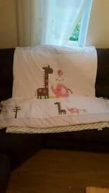 Girls nursery bedding