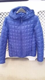 royal blue down parka quilted jacket