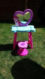 My little pony dressing table and stool.