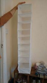 Ikea White Clothes Storage to hang on closet bar - £2