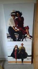 Jack Vettriano canvases