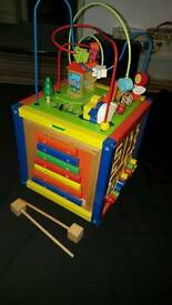 Wooden Baby/Toddler Activity Cube