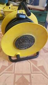 4 ways 130 feet long extension wire reel cable wire