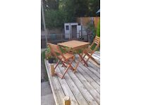 Patio table and 2 chair set
