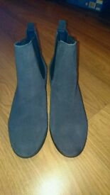 Suade Effect Ankle Boots - Size 6 (Worn once)