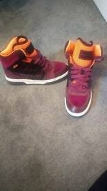 Kurt Geiger orange and purple trainers