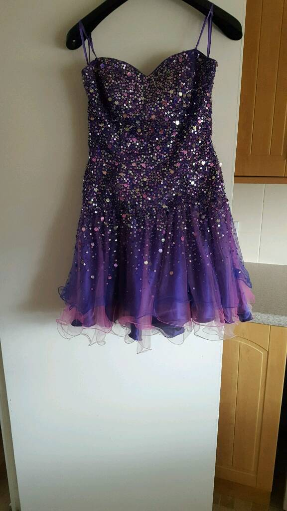 Purple sparkly dress 10in East End, GlasgowGumtree - Bought for my engagement party wouldnt wear again