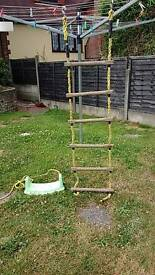 Strong rope ladder and elc swing base