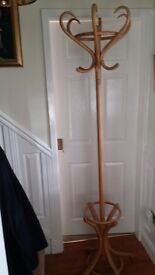 Wooden Coat and Hat Stand