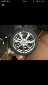 Wolf race alloys and tyres set of 4