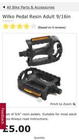 Bike pedals and brake pads (NEW IN PACKING)
