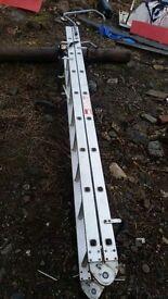 Folding roof ladder