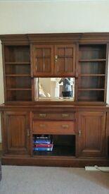 large mahogany mirror backed dresser