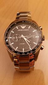 Genuine Emporio Armani Men's Sportivo Watch Silver AR5980