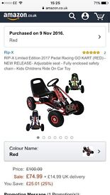 Brand new in box kids go kart