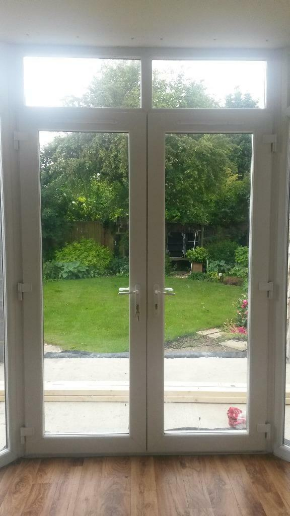 Upvc white french doors and frames patio doors in for White french patio doors