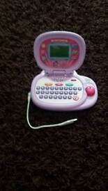 Leapfrog toy computer laptop games light sound