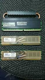OCZ 4GB RAM 2x 1Gb PC2 6400,1x 2Gb PC2 8500