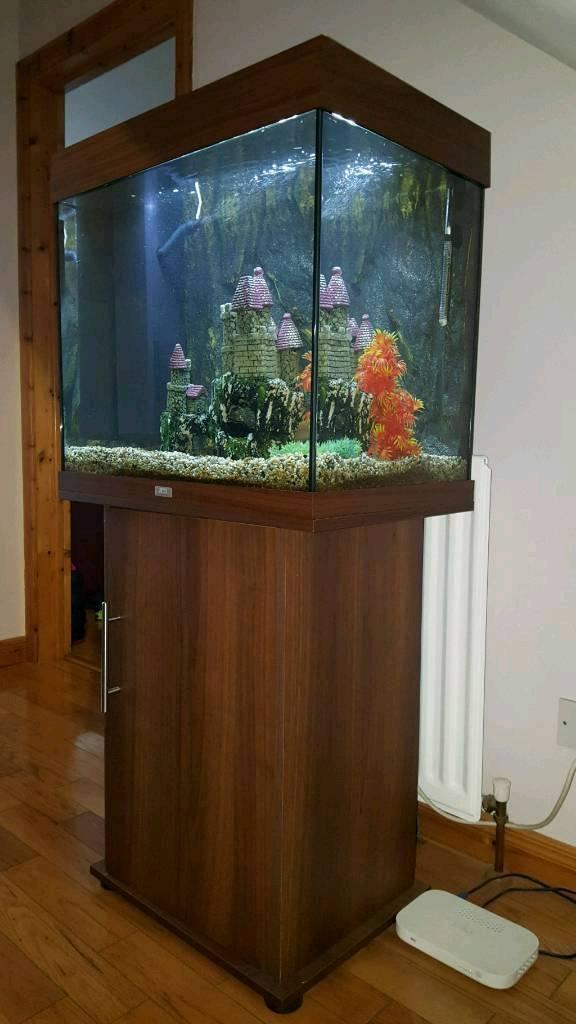 Juwel 120 litre fish tank & unit