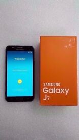 SAMSUNG GALAXY J7 BLACK UNLOCKED DUAL SIM BRAND NEW WITH RECEIPT