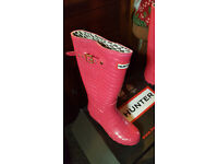 Womens size 6 Pink Hunter wellingtons