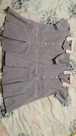2x school navy summer dresses size 6 years