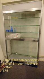 Glass cabinet display