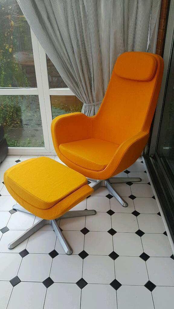 ikea karlstad swivel chair footstool in ipswich suffolk gumtree. Black Bedroom Furniture Sets. Home Design Ideas