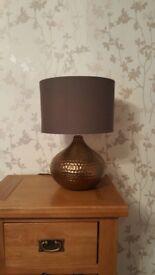 Beaten Copper Table Lamp