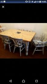 ***** KITCHEN TABLE AND 6 CHAIRS *****
