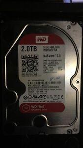2.0TB WD NAS Red Drive Sata III Hard Disk Drive Used