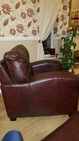 Leather big arm chair New