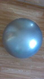 Gymnastic ball with pump