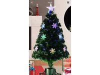 3ft fibre optic Xmas tree with snowflakes ( brand new)