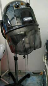 Hooded hair dryer