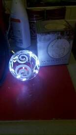 Light up glass ball