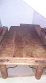 Gorgeous rectangle heavy real wood coffee table