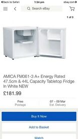 New boxed table top fridge