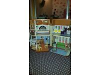 Barbie dolls house with furniture