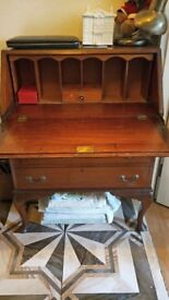 antique study foding table with lock drawer, 99 pounds