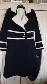 """Philosophy """"the holiday"""" look alike faux lambswool lined black coat"""